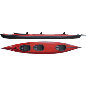 Triton advanced Vuoksa 3 Advanced Kayak Kit complet, red/black